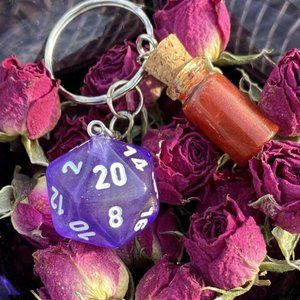D20 Health Potion D&D RPG Keychain